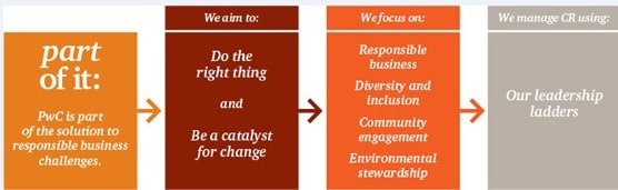 pwc cooperate social responsibility Pwc india: we establish environmental, health, safety, social and economic risks, recommend and develop strategic value-added solutions and help implement organizational change and process improvements.